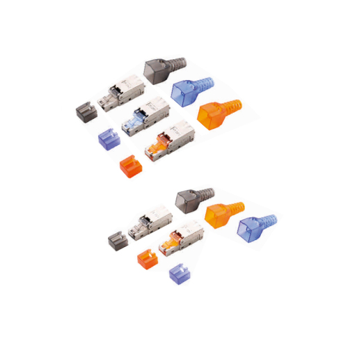 MC CAT 6A/7 Modular RJ45 Plug 8P8C Shielded For Round Cable