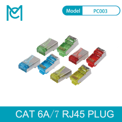 MC CAT 6A Modular RJ45 Plug 8P8C Shielded For AWG 24-26