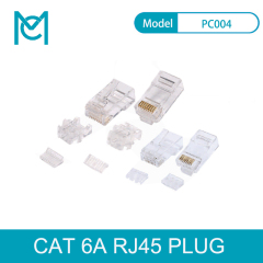MC CAT 6A Modular RJ45 Plug 8P8C Unshielded For AWG 24-26