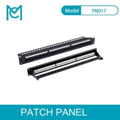 MC CAT 5e-6-6A Modular Patch Panel Unshielded 24-Port Blank 1U Rack Mount Black Color