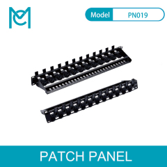 MC MC CAT 5e-6-6A Modular Patch Panel Unshielded 24-Port Blank 1U Rack Mount Black Color