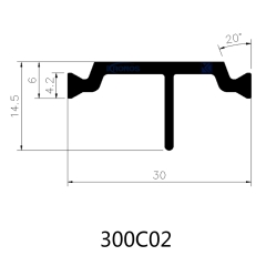 Extruded 30mm Eurogroove PA66GF25 Thermal Break Polyamide Strips
