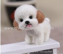 Fashion Women Summer Craft Handmade Lovely Dog Toy Doll Wool Felt Poked Kitting DIY Cute Animal Wool Felting