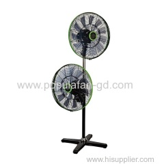 EC Double Head Standing-floor Fan With Brushless Permanent Magnet EC motor Wifi Bluetooth Radio Frequency Remote-18""