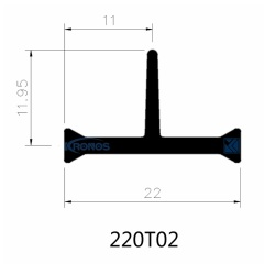 High Precision Extruded 22mm PA66 GF25 Thermal Insulating Polyamide Profiles