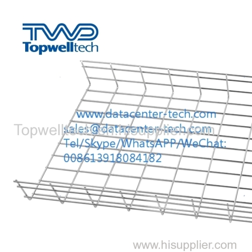 Electro-Zinc Wire Mesh Cable Tray Electro Galvanised Cable Trunking