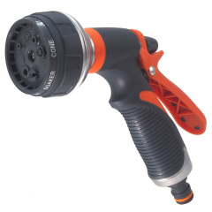 Metal Garden Hose Spray Nozzle 8 Function