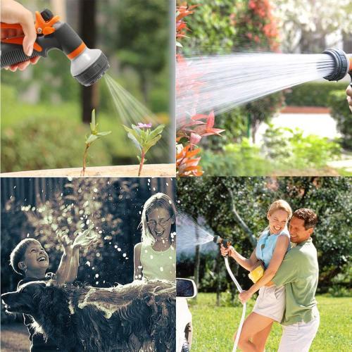 Metal Garden Water Spray Gun 8 Pattern