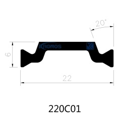 Extruded 22mm PA66 with 25% Glassfiber Thermal Break Polyamide Strips