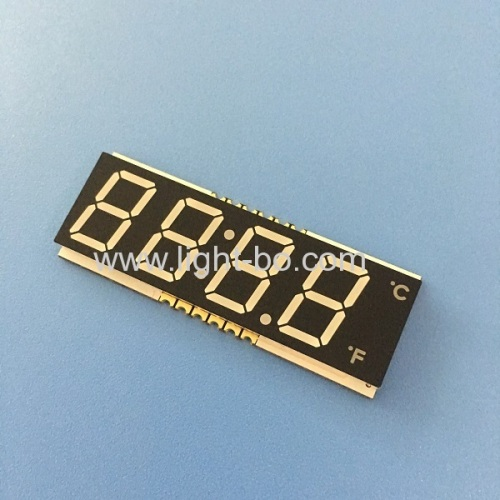 Ultra thin 4 Digit 12mm common cathode white SMD LED Display for microwave oven