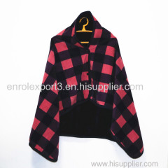 Double Plaid Blanket Multifunction Wrap Shawl Moisture-absorbing Warm Warm Blanket Lazy Shawl Blanket
