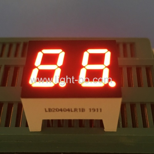 Super red 0.4inch dual digit common cathode 7 segment led display for water heater