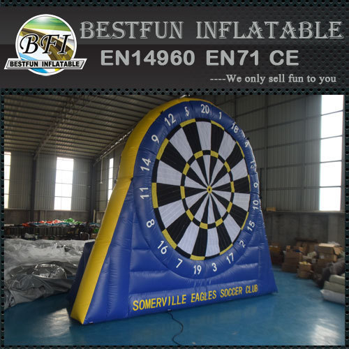 Inflatable Magnetic Dartboard with Sticky Soccer Balls