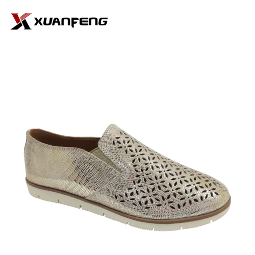 Bling Bling Women's Leather Loafers Casual Shoes