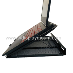 Black Height Adjustable Laptop Computer Monitor Riser