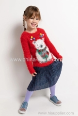Childen's girls skirt with plisse
