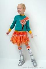 Childen's girls mesh skirt with plisse