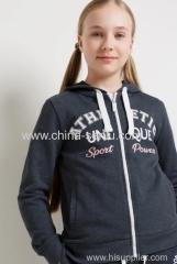 Childen's girls jacket fleece with print