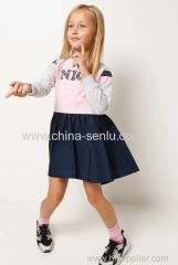 Childen's girls Dress with deco patch of front