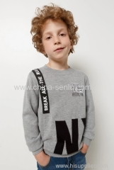 Childen's boys jumper with print of front fleece