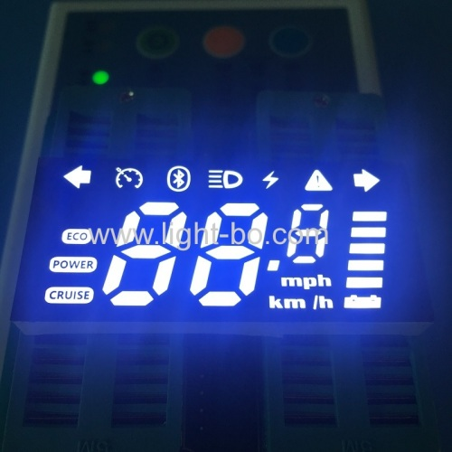 Ultra white Custom made 7 segment led display module for automotive instrument panel
