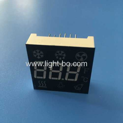Customized super bright red triple Digit 7 Segment LED Display for refrigerator controller