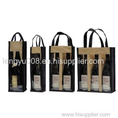 PVC Window Wine Bags(KM-WNB0051) Promotion Packing Bags