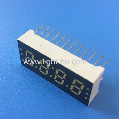 Ultra Bright White Four Digit 0.3 (7.6mm) Common Anode 7-Segment LED Display