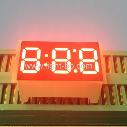 Super bright red 0.36 Triple digit 7 segment led display common cathode for home appliances