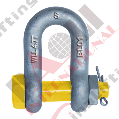 GRADE S DEE SHACKLE WITH SAFETY PINS AS2741 20948 20949 20950 20951