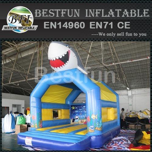 3D Shark Inflatable bouncer jumper