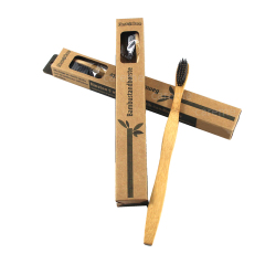 natural bamboo handle charcoal biodegradable toothbrush