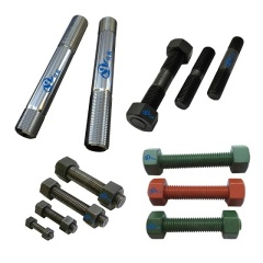 Stud Bolts with Heavy Hex Nuts for Oilfield Applications