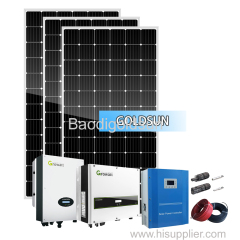 Solar power system on-grid 5kw