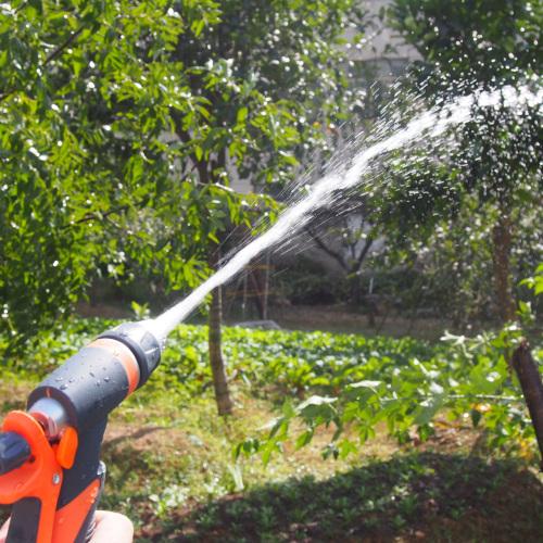 Metal 2-way garden hose nozzle