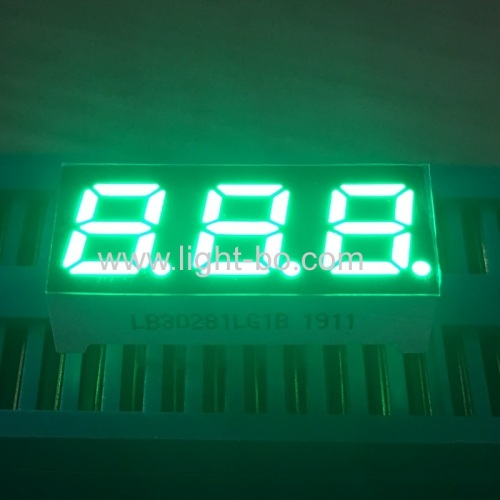 Triple digit 0.28inch pure green 7 segment led display common cathode for home appliances