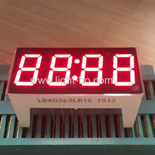 Super Red 0.36 4 Digits 7 Segment LED Clock Display for home appliances with height 16.5mm