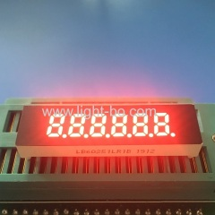 "Super Red small size 0.25"" 6 Digits 7 Segment led display common cathode for Instrument Panel"