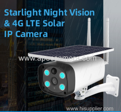 2MP Starlight Sony 307 Solar power Battery Recharge 4g wifi IP cameras IR vision outdoor 4g solar CCTV Camera