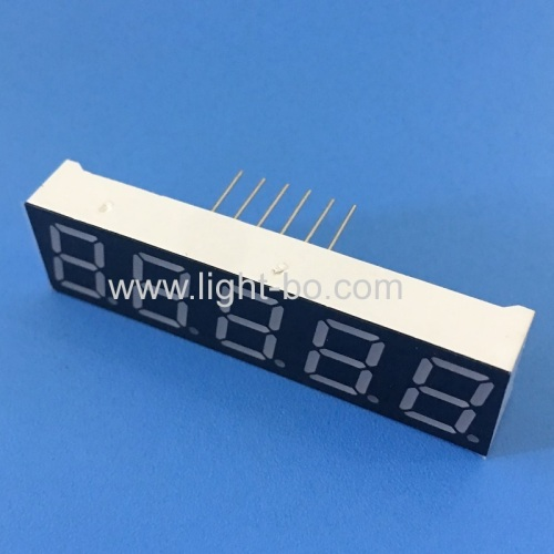 Super Red 0.39 5 Digit 7 Segment LED Display common cathode for temperature indicator