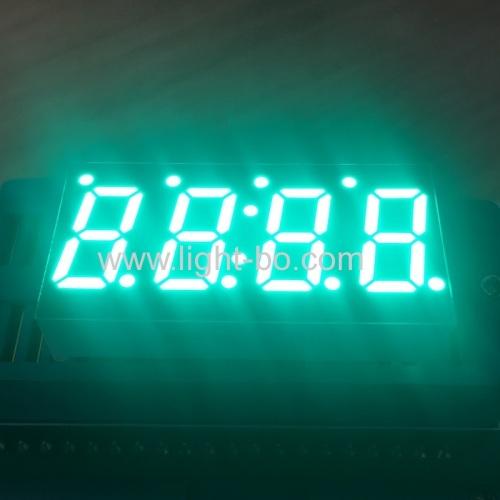 чисто зеленый 0.49 дюймовый 4-значный 7-сегментный светодиодный дисплей общий катод для регулятора температуры