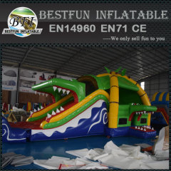 Outdoor Multiplay Inflatable Bouncer Castle Crocodile