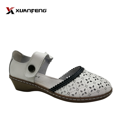 Popular Wholesale Comfortable Ladies Leather Wedding Sandals