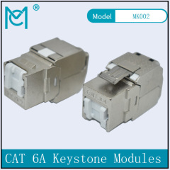 CAT 6A Keystone Jack Shielded Re-embedded 500 MHz Dust Cover