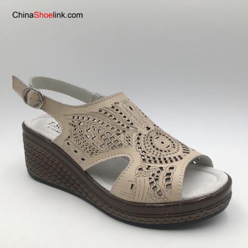 Fashion Comfortable Women's Genuine Leather Flatform Sandals