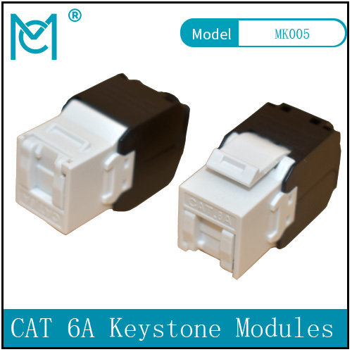 CAT 6A Keystone Jack Unshielded 500 MHz Tool Free Connection Dust Cover