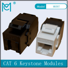 CAT 6 Keystone Jack Unshielded RJ45 to LSA Color Black