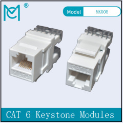 CAT 6 Keystone Jack Shielded 250 MHz Tool Free