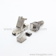 rj45 stp cat.6a or cat.6 connector toolless cat6a Modular Connectors Plug Metal Shield Plug