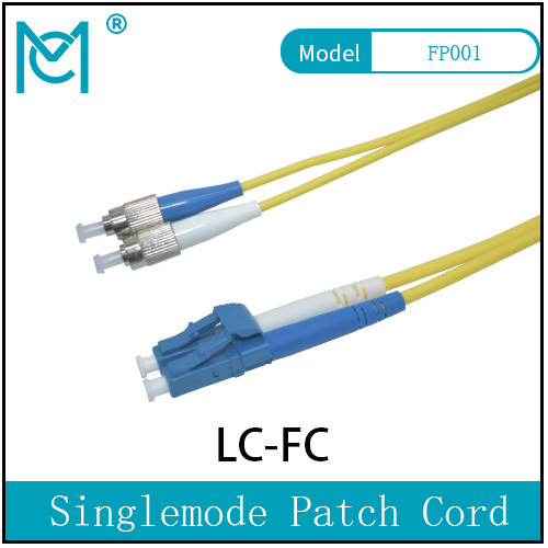 Fiber Optic Single Mode Patch Cord Duplex LC/FC